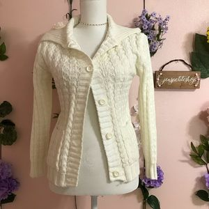 Sweaters - NEW Ivory white cardigan sweater